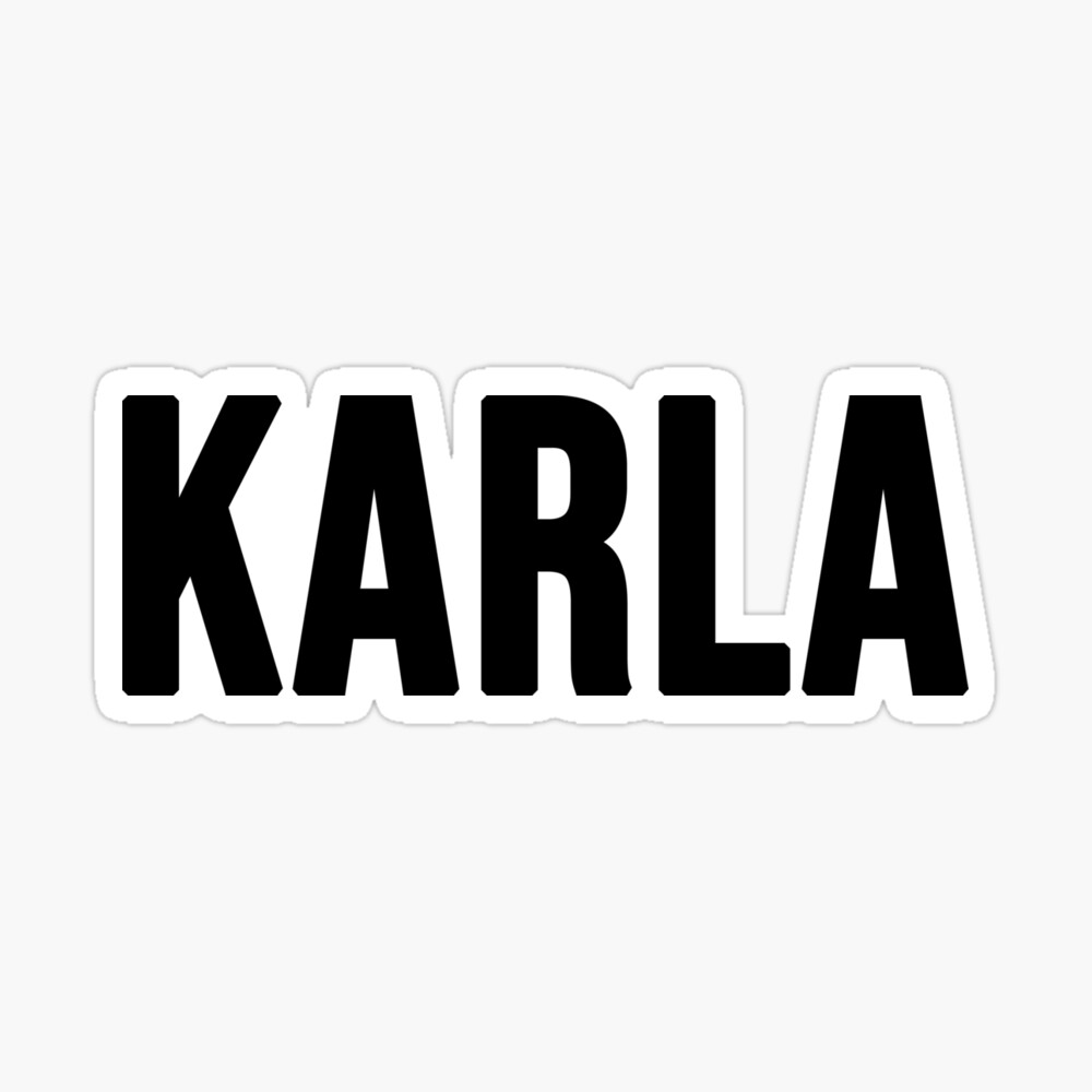 """""""Name KARLA Sticker"""" Water Bottle by bloodycritch"""