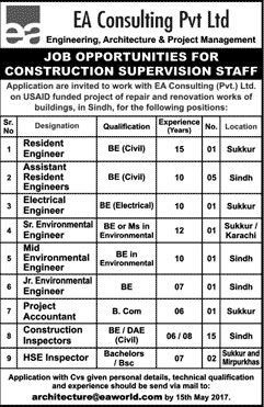 Jobs Opportunities In Ea Consulting Private Limited