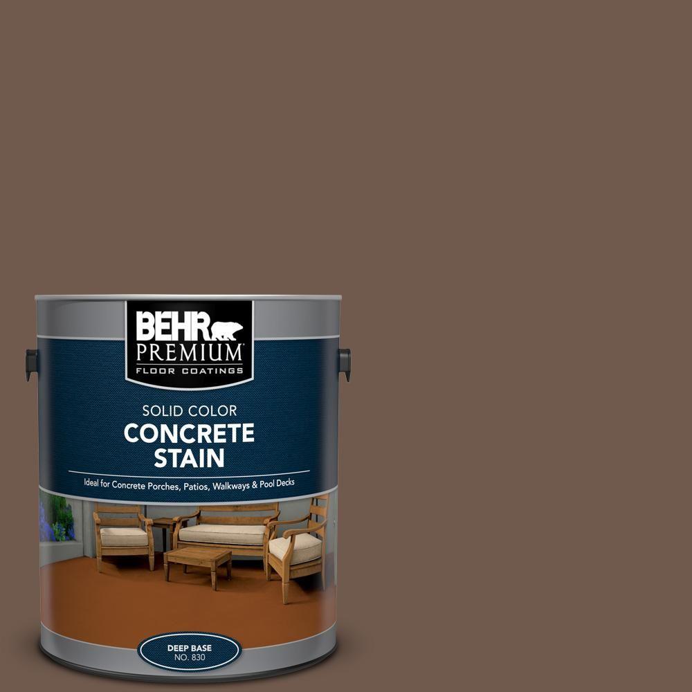 Behr Premium 1 Gal Pfc 35 Rich Brown Solid Color Flat Interior