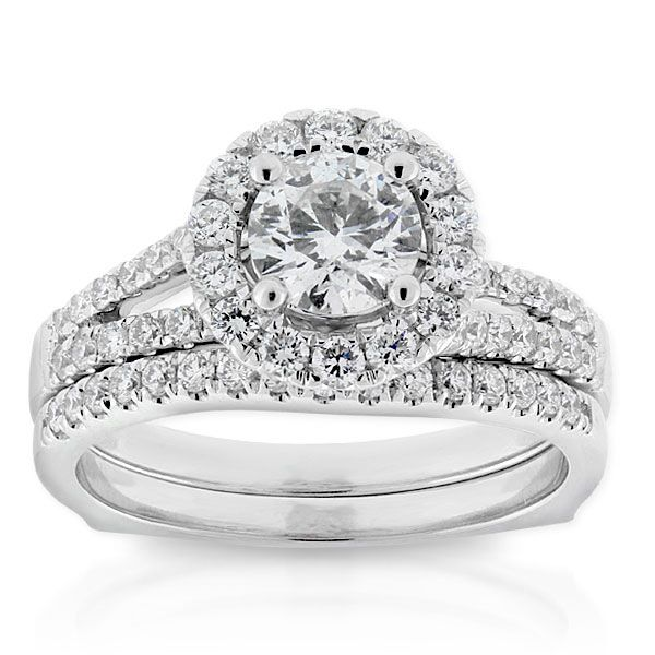 Ikuma Canadian Diamond Bridal Set 14K Canadian diamonds Bridal