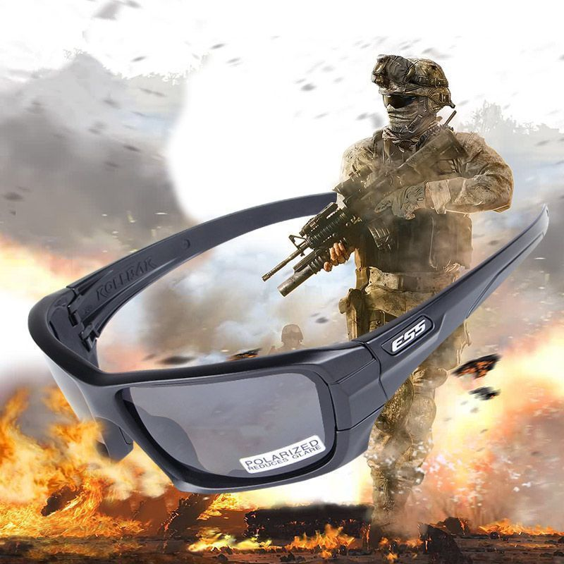 ESS Crossbow Rollbar Polarized Military Sunglasses Tactical Army Goggles 4 Lens