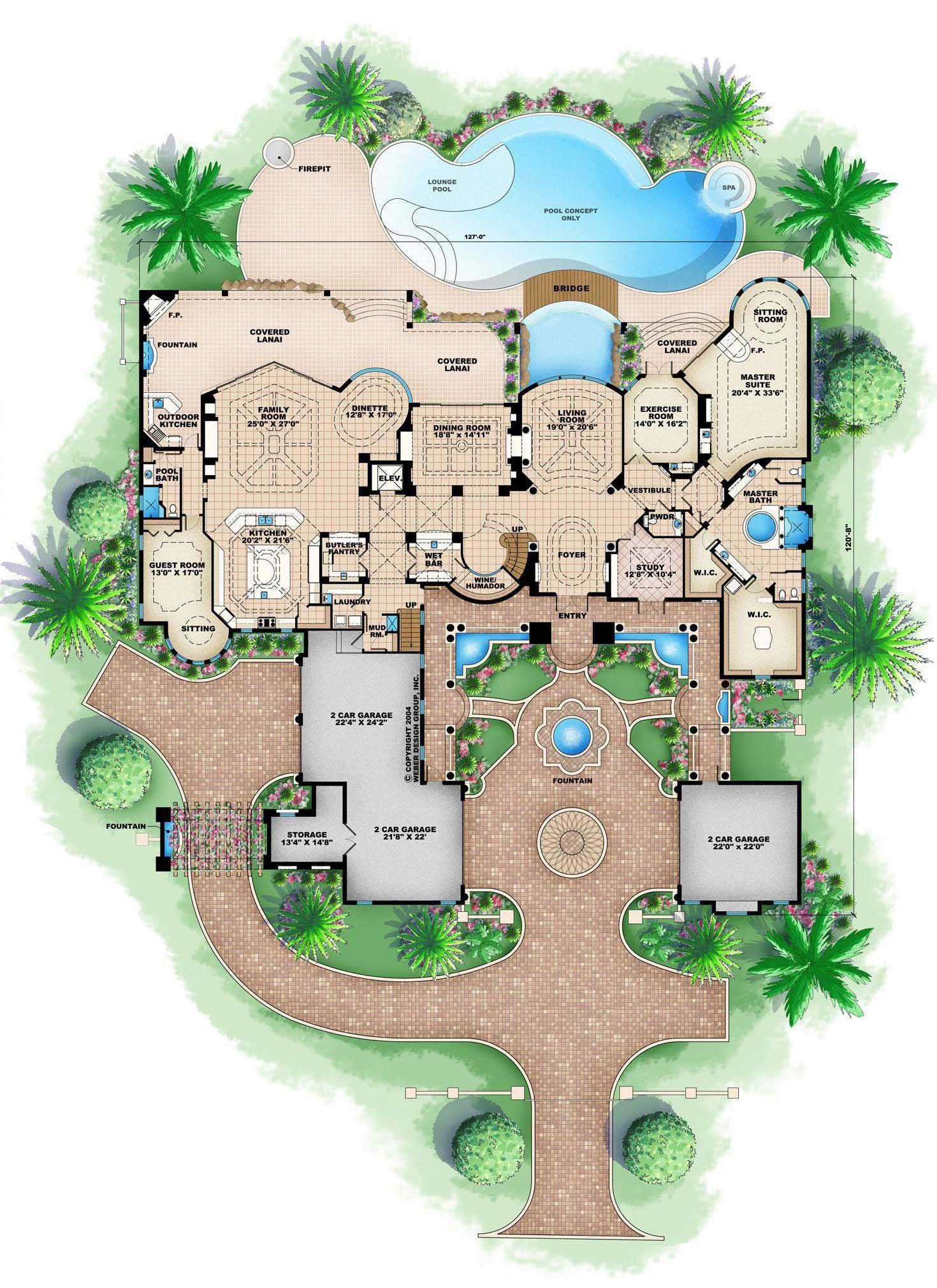 Luxury Mediterranean Home Plans Home Design Palacio Mediterranean House Plans Luxury House Plans House Floor Plans