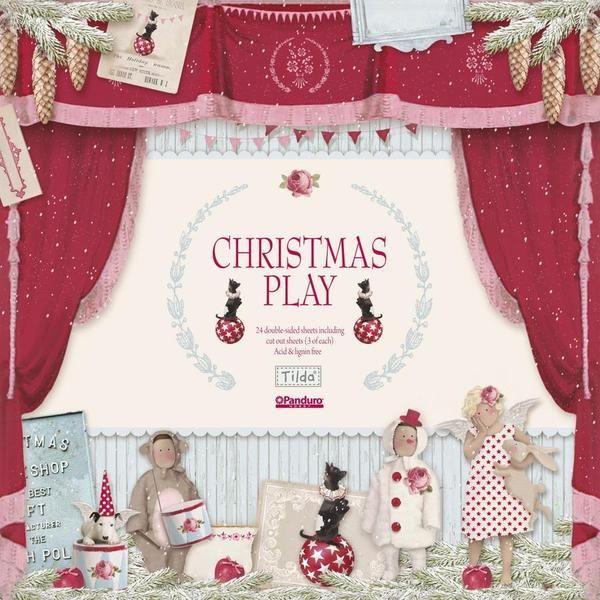Tilda Scrapbooking Papier  Christmas Play  von Die Geschenkidee auf DaWanda.com