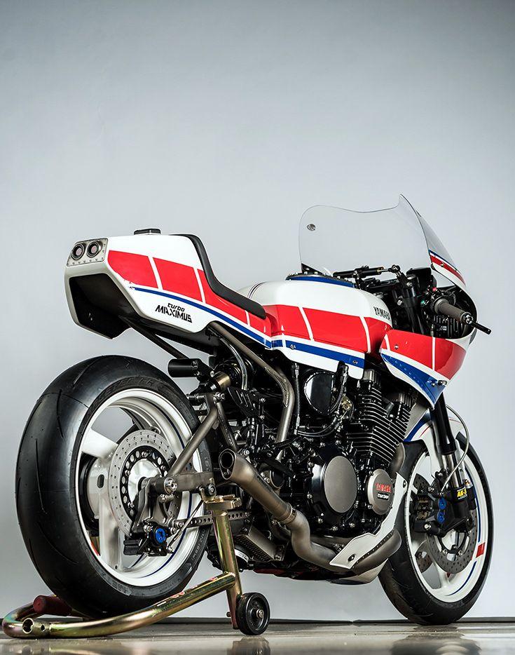 60edd22395 Turbo Maximus: Derek Kimes' boosted Yamaha XJ750 Maxim | オートバイ | バイク  400、カスタムバイク、オートバイ