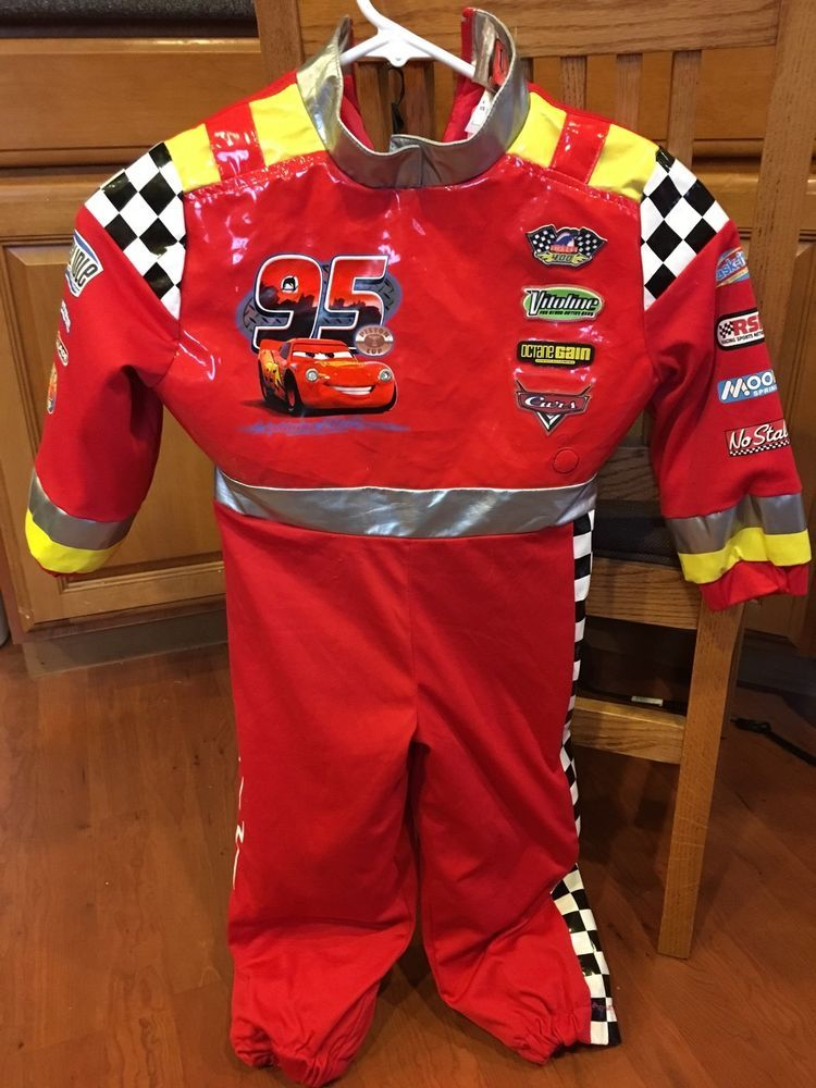 RARE Lightning McQueen Disney Cars Jumpsuit Costume Light Up   Sounds XS 4  Red  DisneyCars  CompleteOutfit 51943e88c