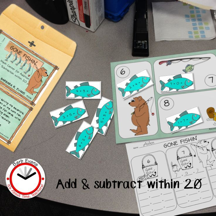 MATH CENTER Forest Theme Addition Subtraction within 20 | Math ...