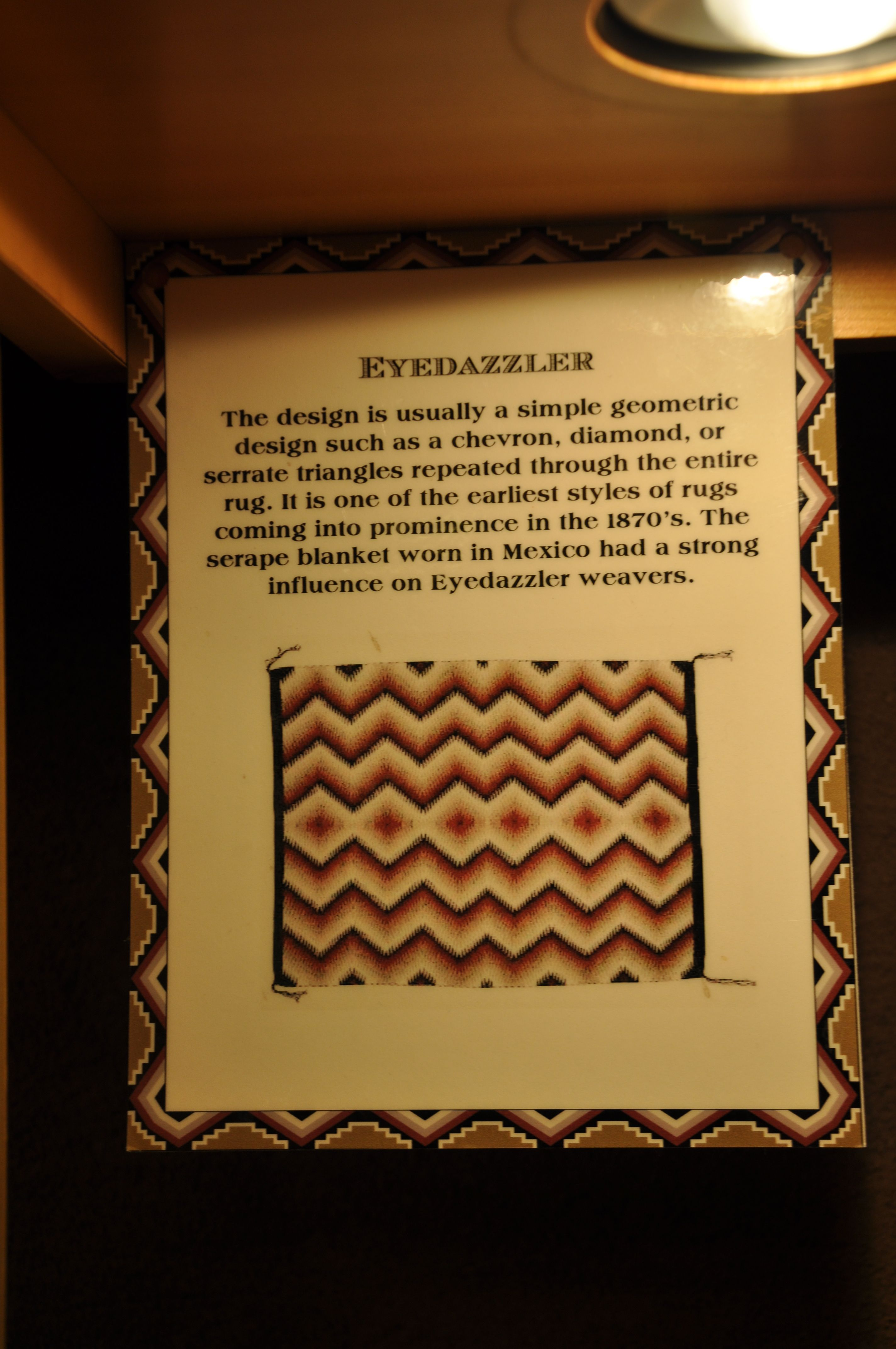 An Explanation Of Weaving Symbols In The Hopi House At The Grand