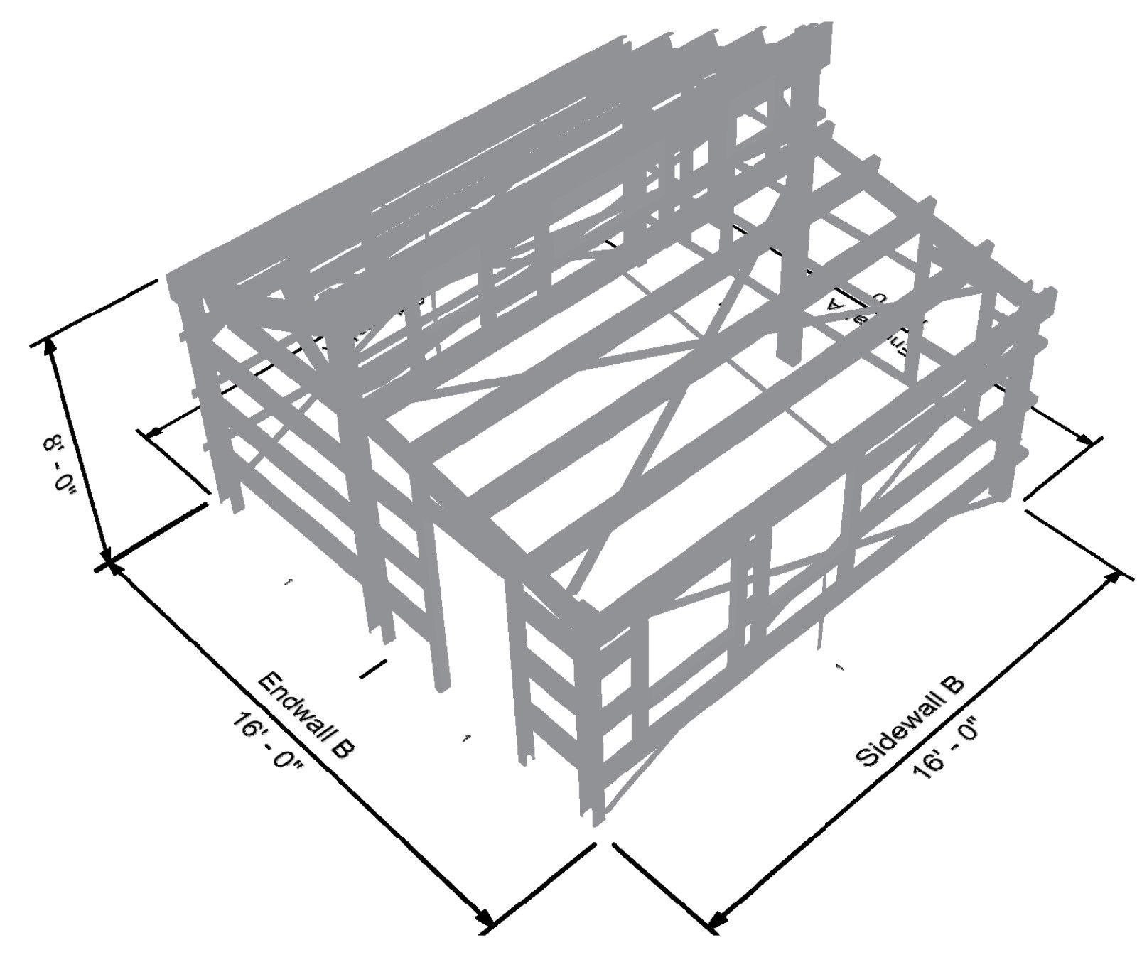 Tiny House Kit - structural view. All steel kit, easy to assemble ...