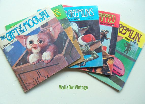 Vintage Gremlin Adventures Read Along Book and Records set of 5