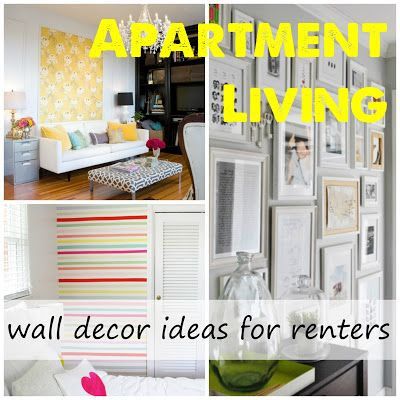 Wall Decor Ideas For Renters From Label Me Organized No Paint Or Nails Necessary