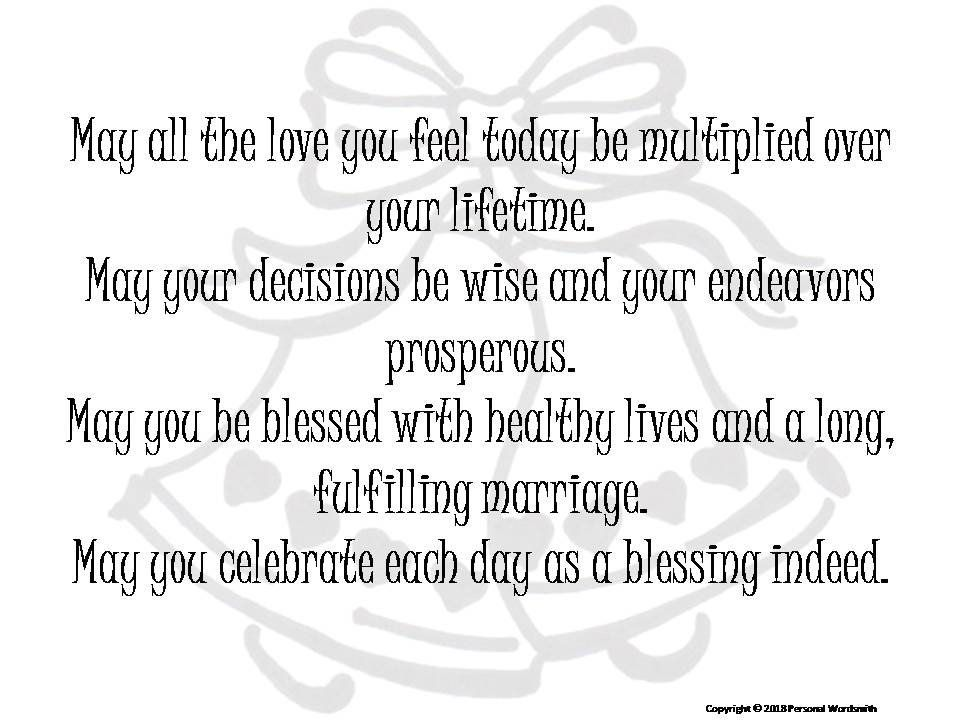 Marriage Blessing Toast Digital Print Downloadable Wedding Etsy Wedding Wishes Quotes Wedding Prayer Wedding Blessing