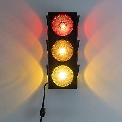 Amazonsmile Kicko Traffic Light Lamp Plug In Blinking Triple Sided 12 25 Inch For Kids Bedrooms Decorations Parties Cel In 2020 Lamp Light Lamp Traffic Light