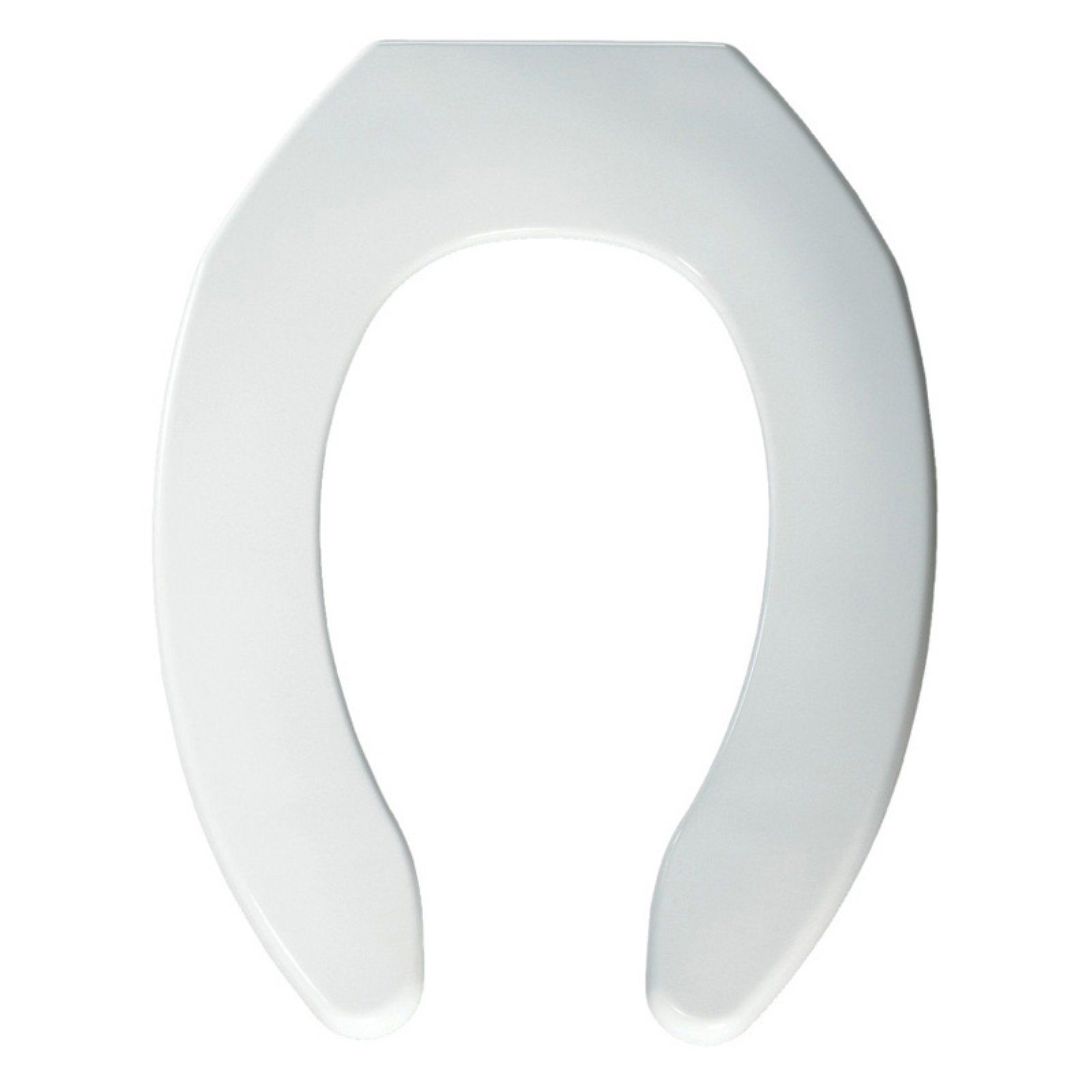 Bemis B1055ssc000 Elongated Open Front Less Cover Toilet Seat With