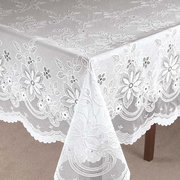 Perfect Vinyl Lace Tablecloth