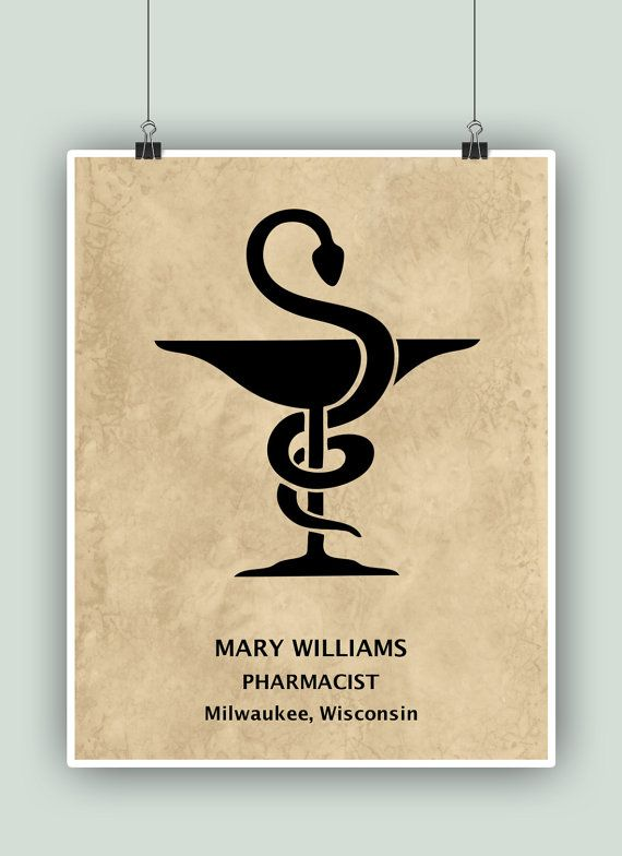 Pharmacy wall art, PERSONALIZED Pharmacist Print, Pharmacy wall ...
