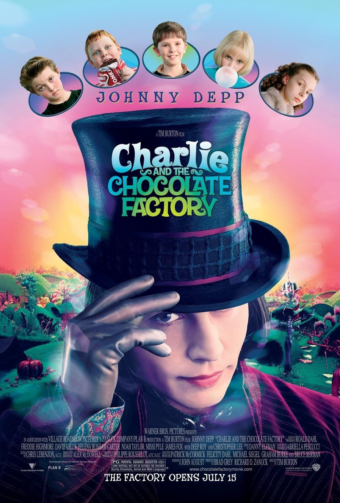 Charlie and the Chocolate Factory (2005)   Chocolate factory, Johnny depp  movies, Good movies