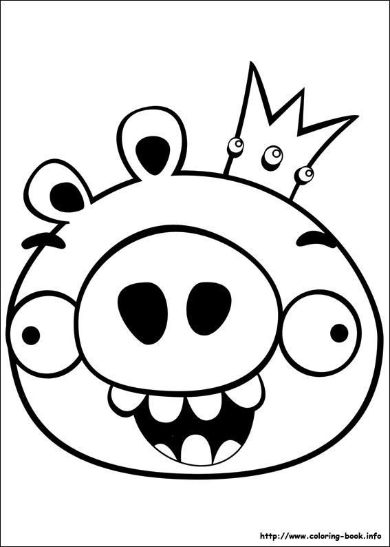 Angry Birds Coloring Picture Bird Coloring Pages Coloring Books Angry Birds Pigs