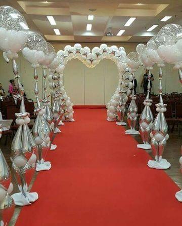 majestuosa decoracion de globos para matrimonio | decoracion bodas