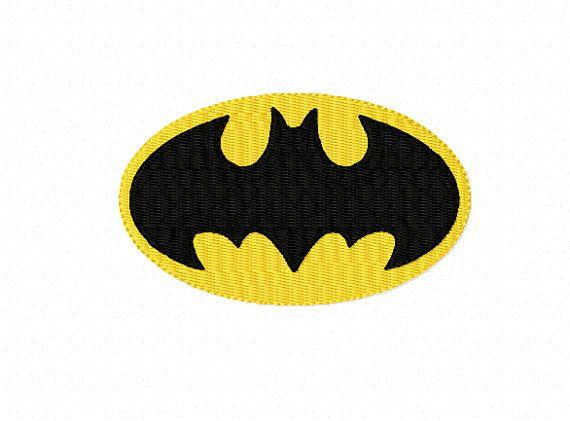 Super Hero BATMAN Logo ~ Machine Embroidery Design in 2 sizes ~ Instant Download - Caped Crusader