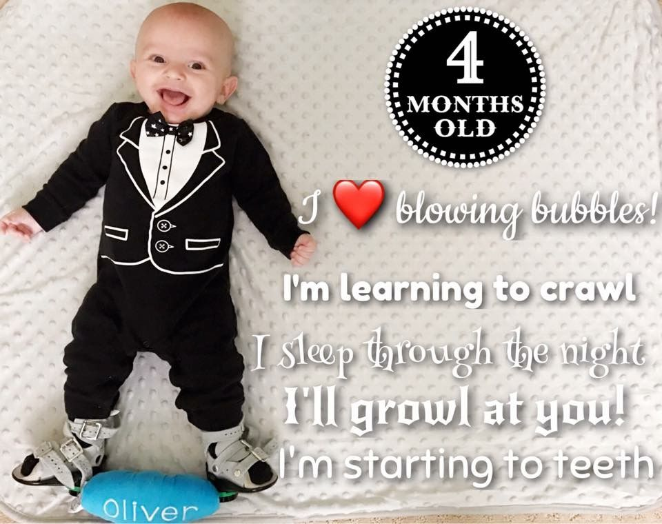 Baby Oliver Monthly Update P Os 4 Months Old