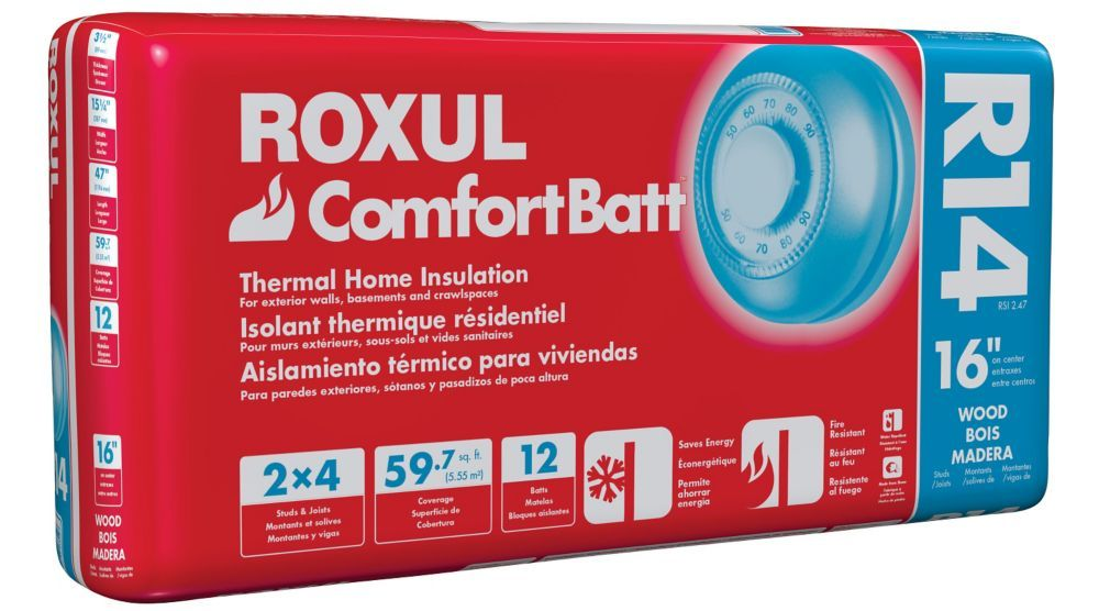 Comfortbatt r14 for 2x4 studs 16 in on centre home