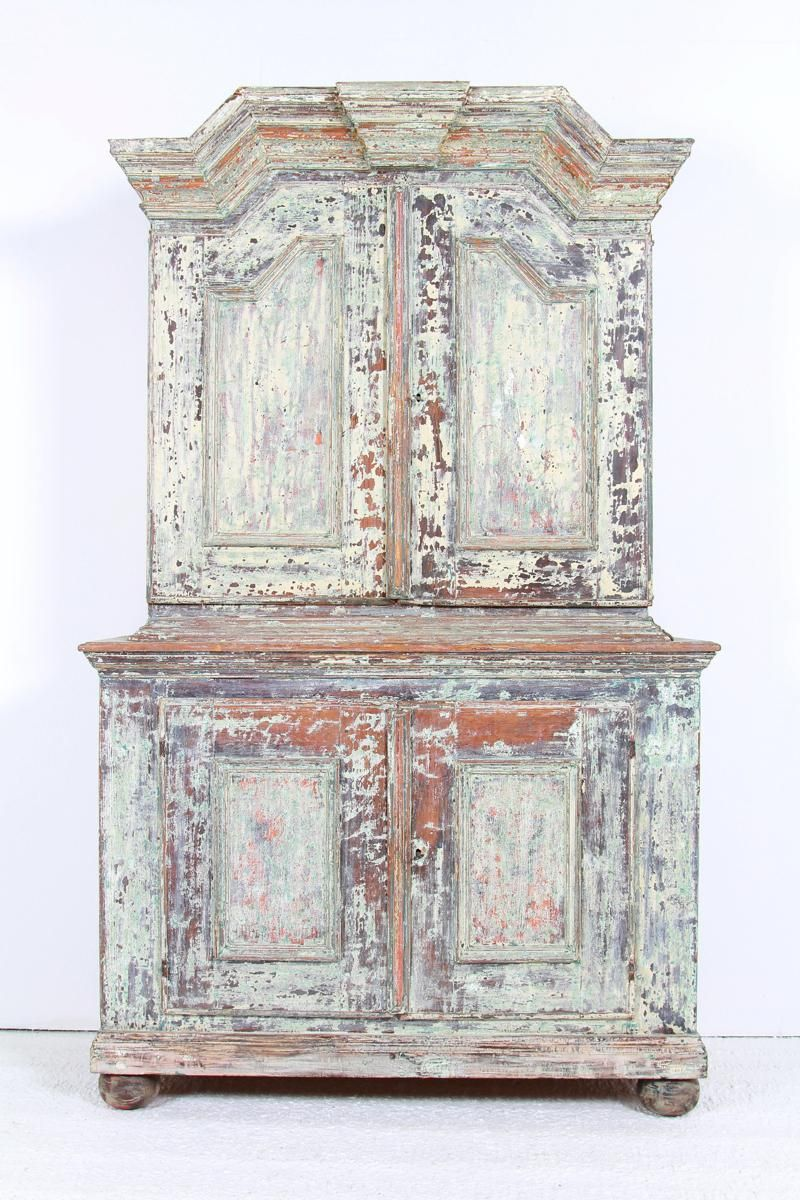Swedish Gustavian 18thc Cabinet In Original Paint Gustavian Swedish Decor Antique French Furniture