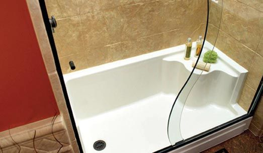 Stand Up Shower Base Sizes Tub To Shower Conversion Shower