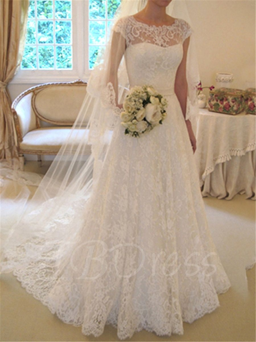 offers high quality ALine Cap Sleeves Lace