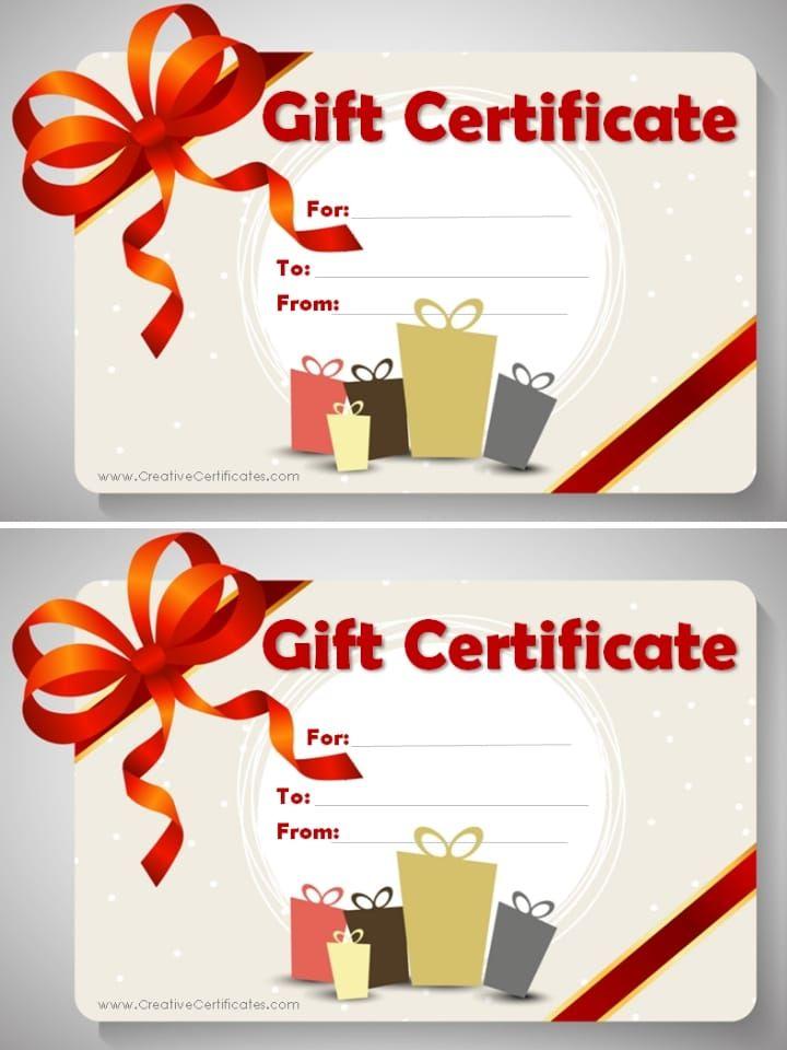Free Gift Certificate Template Customizable Splendouras Box