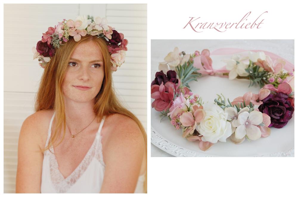 Hair Wreath Altrosa Flower Crown Bride Wedding Bridal Wreath Made Beautiful 02 26 Haarschmuck Von Schongemachtes Haarschmuck Blumenkrone Braut Und Blumenk