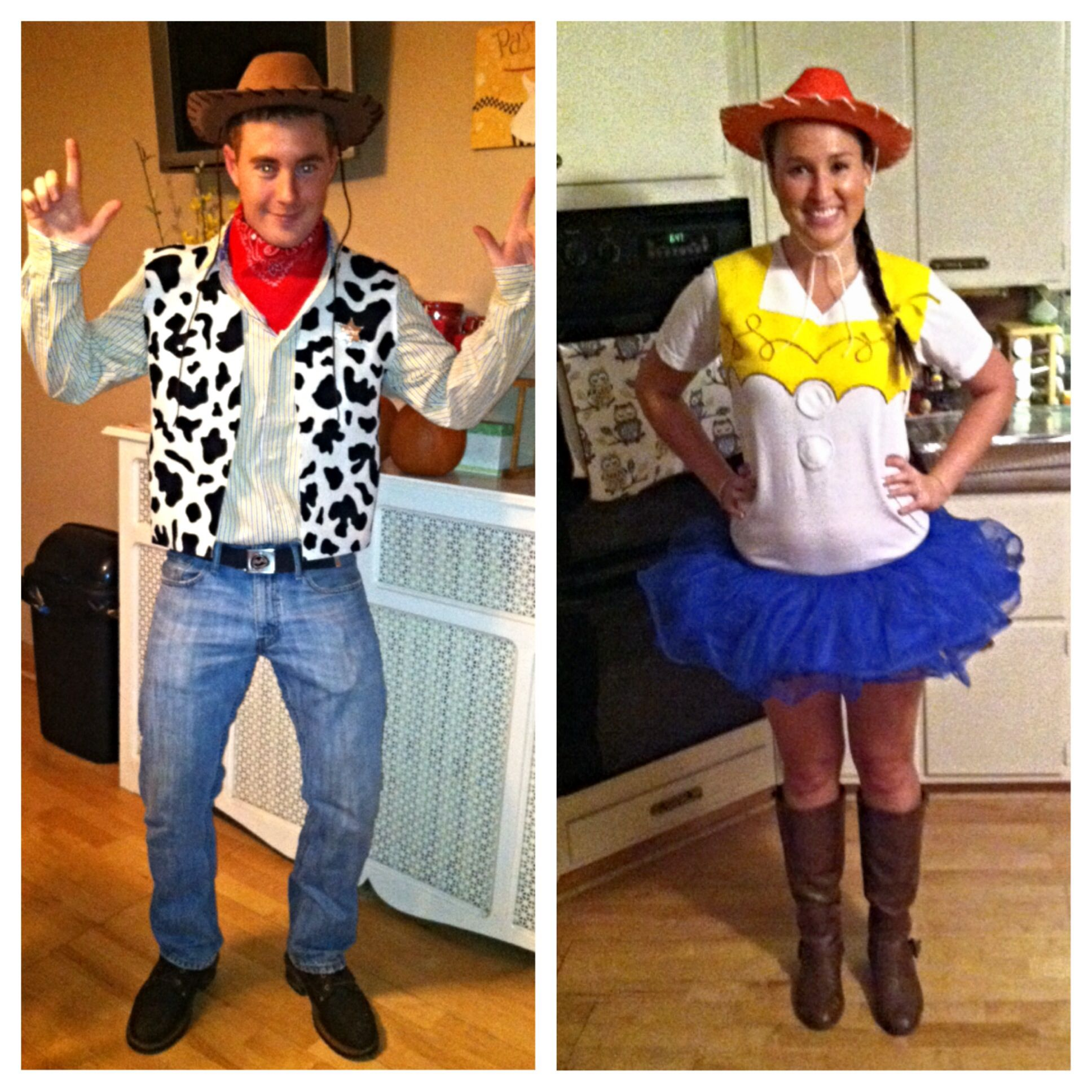 Homemade Toy Story Costumes Woody Jessie Toy Story