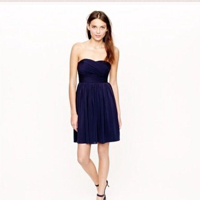 Silk Navy Jcrew Dress-Nwt