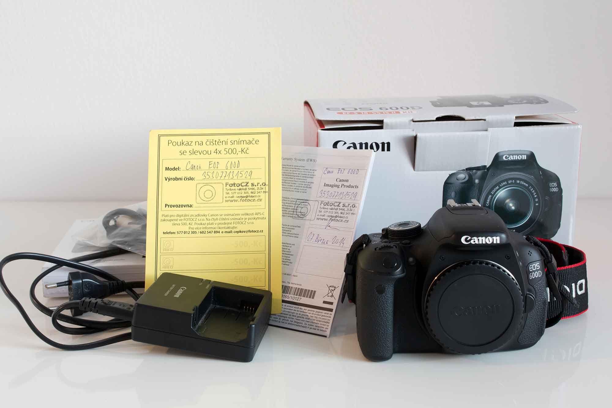 Canon EOS D600 STAV NOVéHO