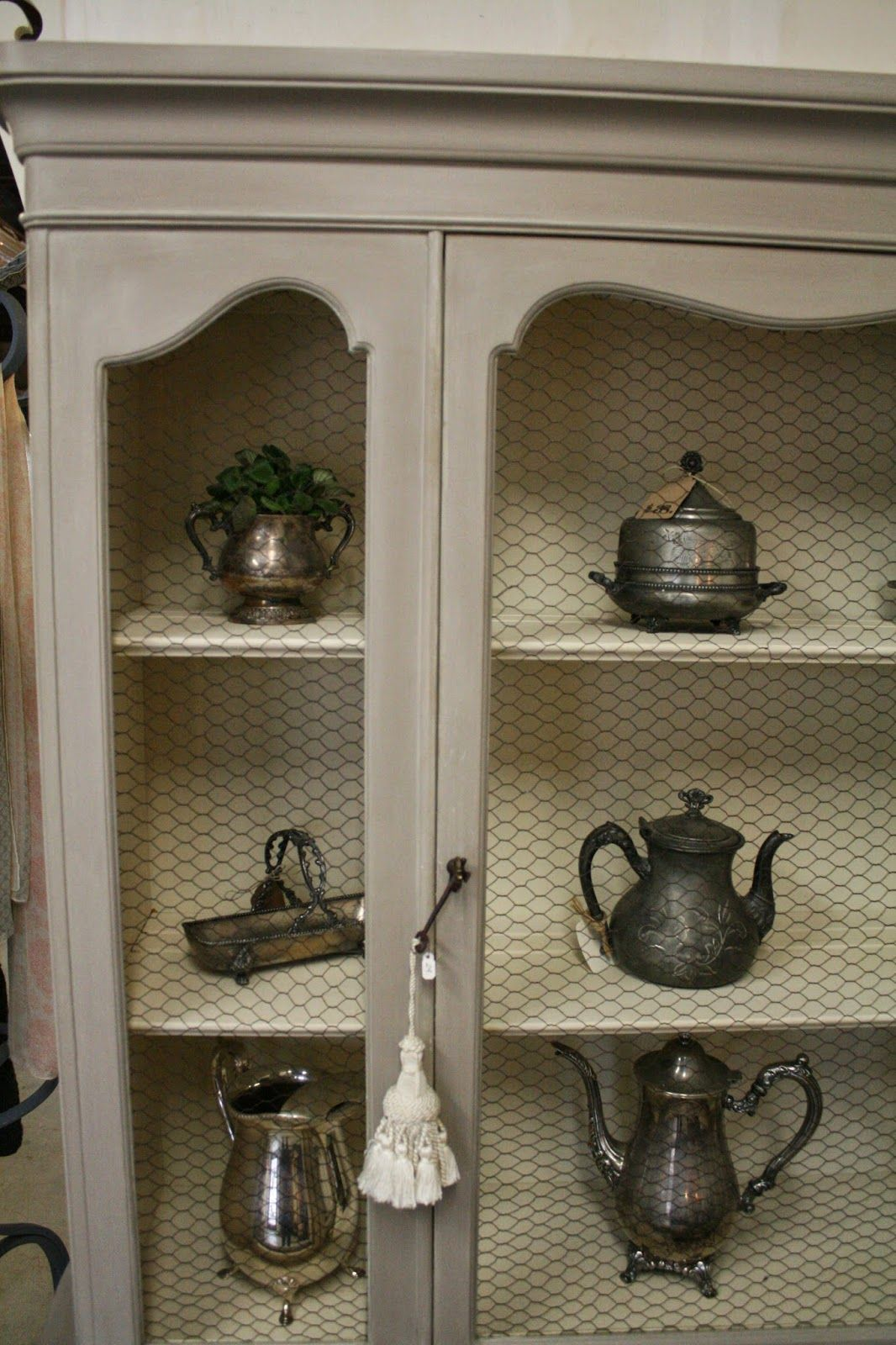 French Provincial Hutch with Chicken Wire: Coco and Old Ochre Chalk ...