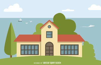 Ilustracion De La Casa Grande House Styles Color Palette Mansions
