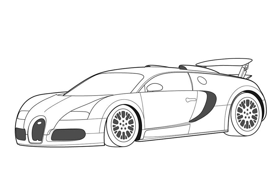 Racing Car Coloring Page coloring