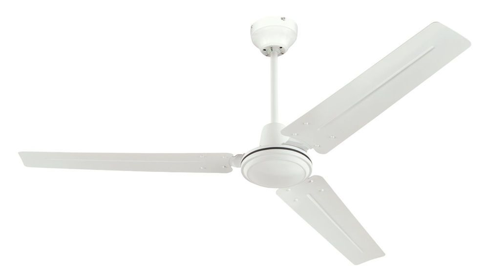 Commercial Industrial Business Indoor Ceiling Fan Heavy Duty Large Spaces White Westinghouse
