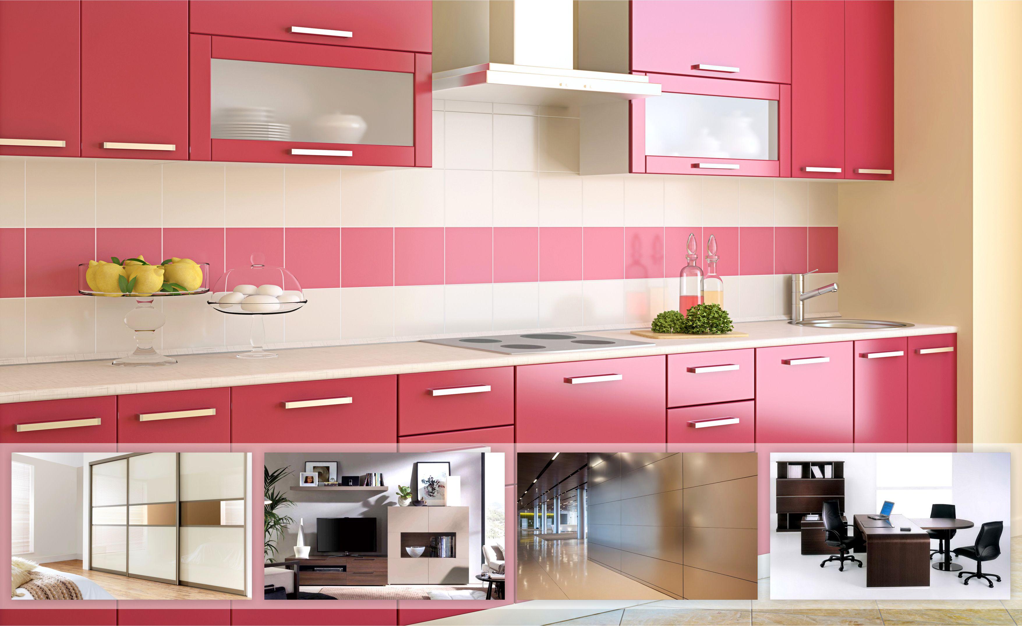 small u-shaped glossy acrylic laminate kitchen cabinets - Yahoo ...