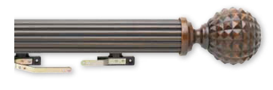 Select Custom Drapery Rod Fluted Wood Fascia Rod Drapery Rods