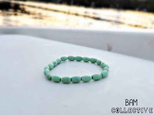 Mint Green Dream Handmade Bracelet by BAM Collective #handmade #bybamcollective BAMcollective.etsy.com