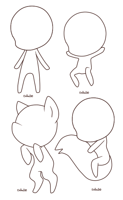 Chibi Base 1 By Eelball Chibi Drawings Chibi Sketch Kawaii Drawings