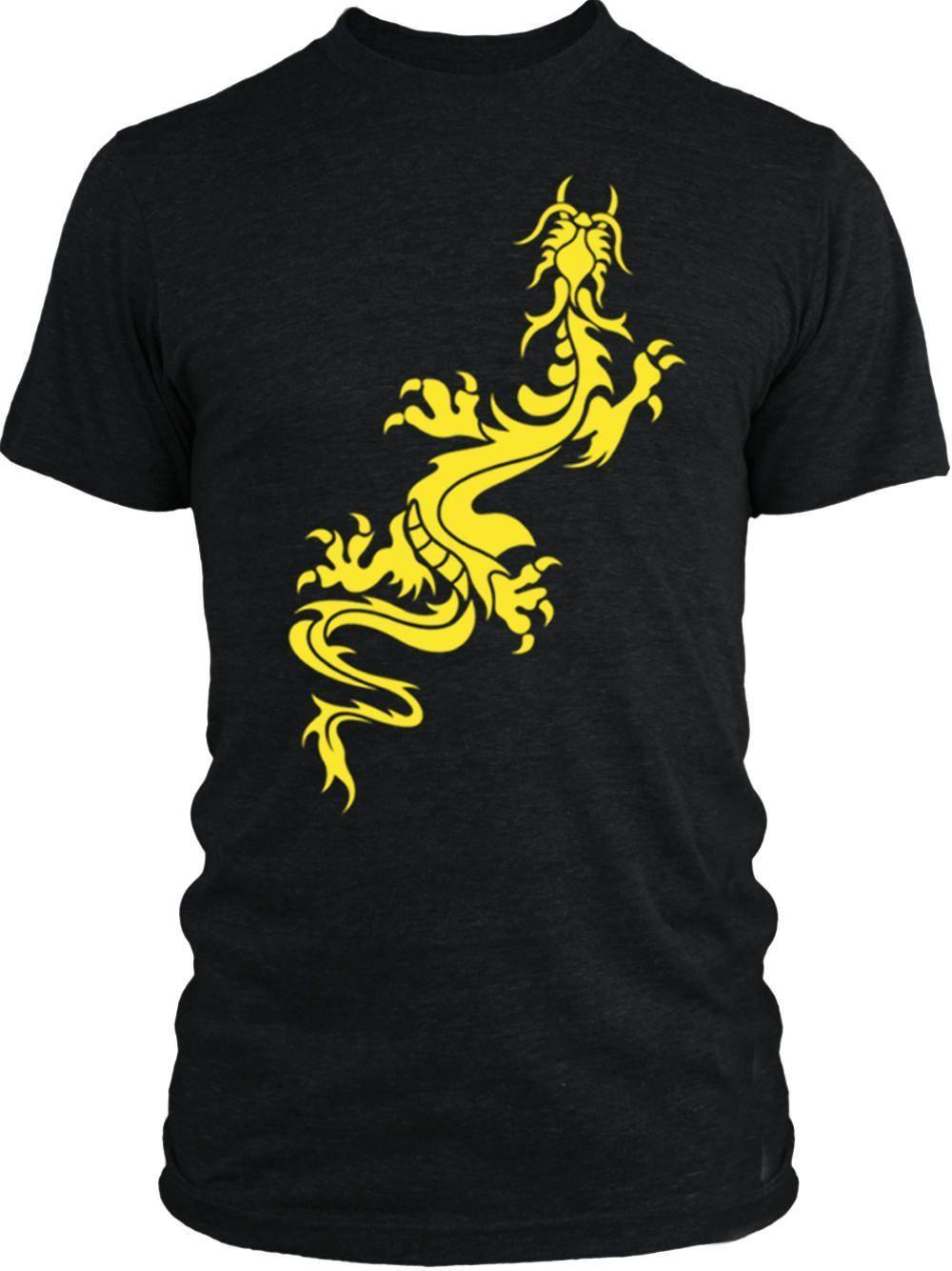 Big Texas Dragon Stencil (Yellow) Vintage Tri-Blend T-Shirt