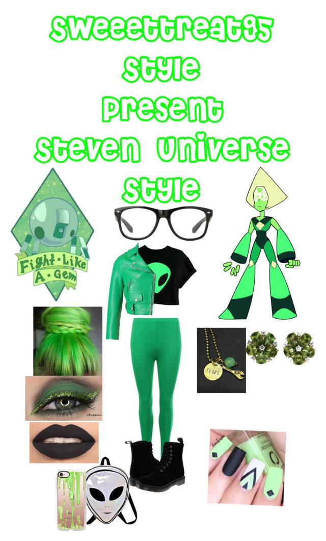 """""""Peridot"""" by sweeettreat95 on Polyvore featuring WearAll, Acne Studios, Dr. Martens, Casetify and Valentin Magro"""