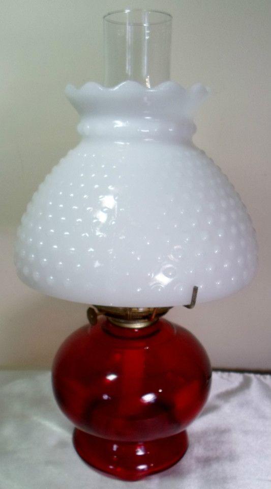 Vintage pa eagle burner ruby red hurricane oil lamp milk glass vintage pa eagle burner ruby red hurricane oil lamp milk glass hobnail shade mozeypictures Choice Image