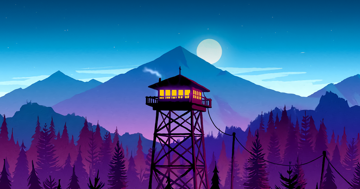 Firewatch Night Wallpaper for (Saving battery for Amoled