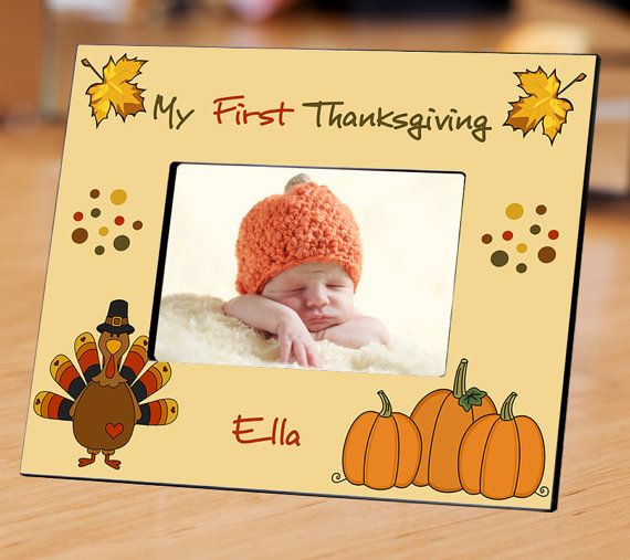 My First Thanksgiving Picture Frame Baby Gift Baby First