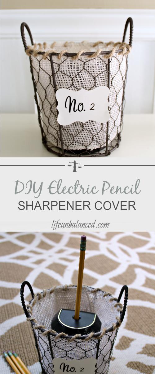 DIY Electric Pencil Sharpener Cover | Pinterest