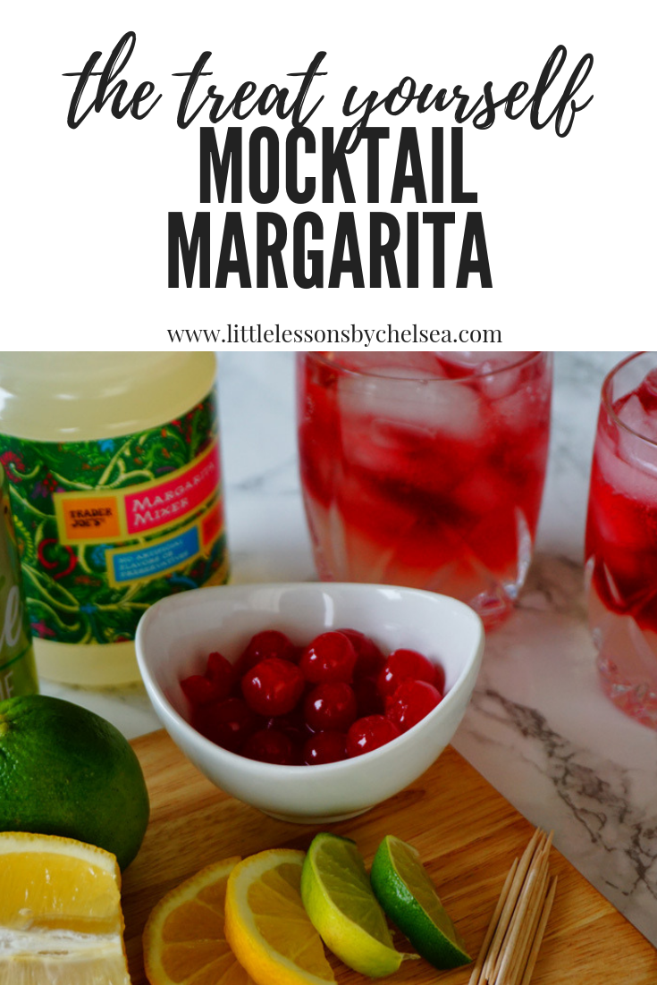 the treat yourself mocktail margarita  fruity drink