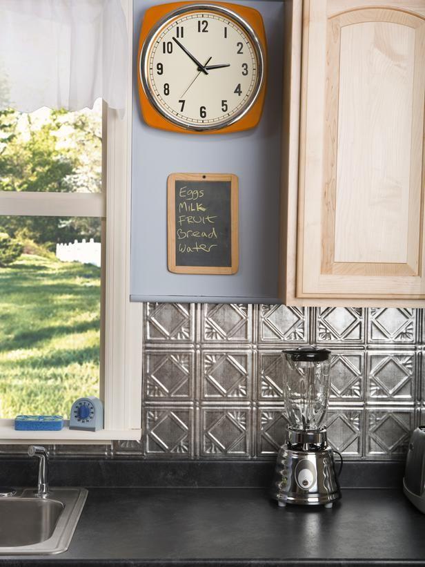 On A Budget Try Tin Tile Backsplash