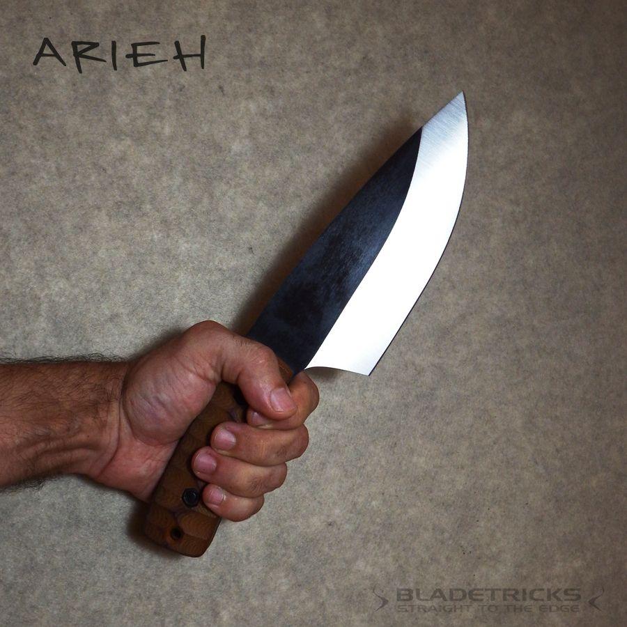 Nash knife maker chopper knife with micarta scales